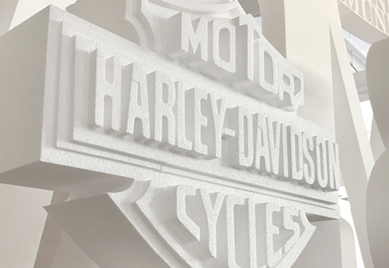 Clickprinting. Logotipos, diseño con formas y letras personalizadas fabricadas en corcho Porexpan o poliespan blanco. Comprar precios baratos online