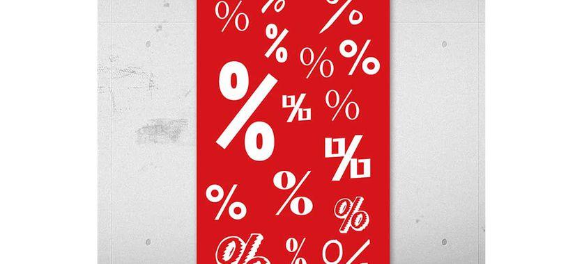 Impresión de carteles colgantes de interior, lonas en punto de venta