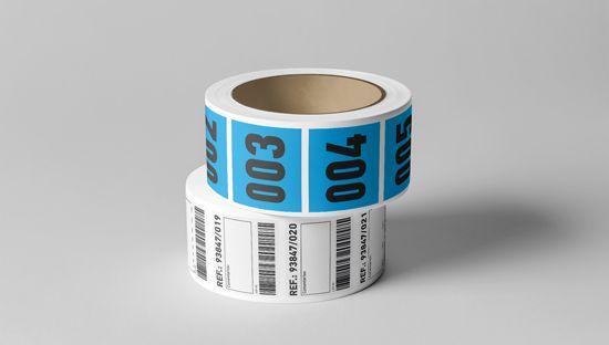 Impresión de pegatinas en bobina con dato variable, comprar en Clickprinting al mejor precio