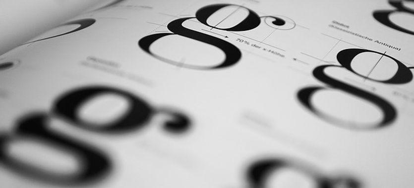 Partes de la letra de imprenta, la composición de las letras