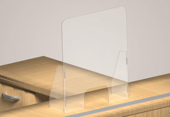 Clickprinting. Mampara metacrilato transparente separación en mostrador negocio. Comprar a precios baratos online