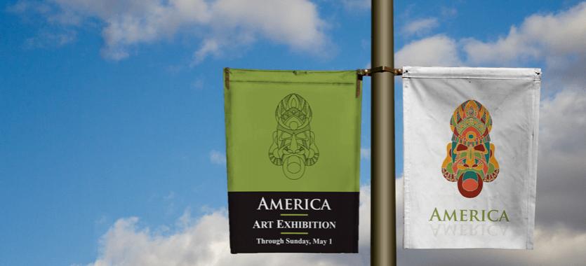 Publicidad para campañas políticas, banderolas para farolas