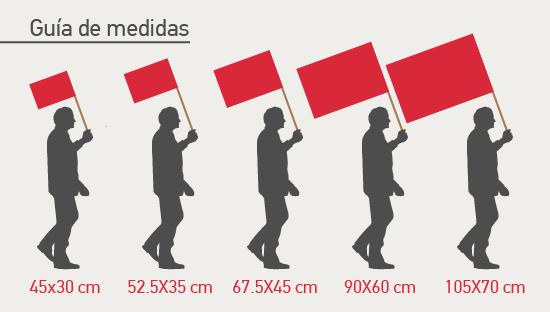 ClickPrinting banderas con palo personalizadas baratas