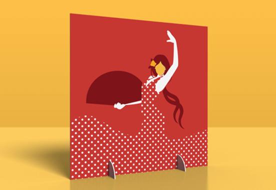 Clickprinting. Expositor photocall con peanas para tu boda, cumpleaños, fiestas y eventos. Comprar a precios baratos online