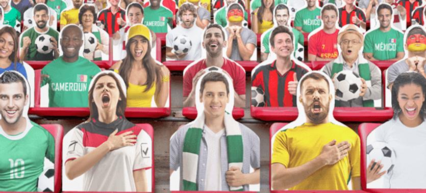 Siluetas de aficionados para eventos deportivos en ClickPrinting