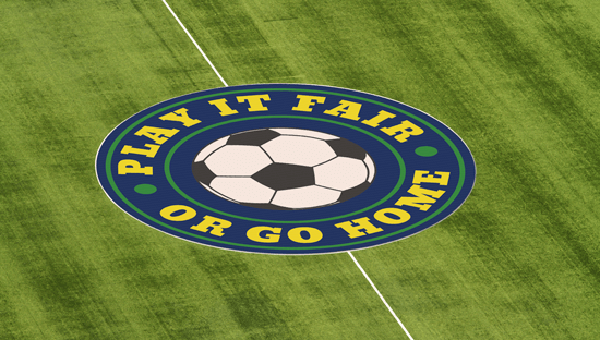Pancarta textil para el círculo central del campo de fútbol, patrocinio y publicidad en los estadios primera división