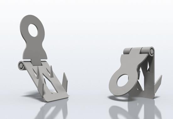 Clickprinting. Colgador metálico de bisagra para sujetar carteles, soportes rígidos en Pegasus, Foam, Cartón pluma. Comprar a precios baratos online