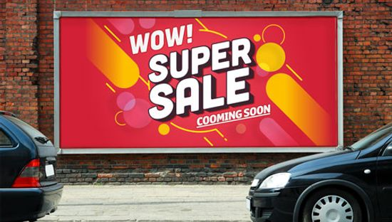 Clickprinting. Impresión de vallas publicitarias en papel para campañas de exterior. Comprar a precios baratos online
