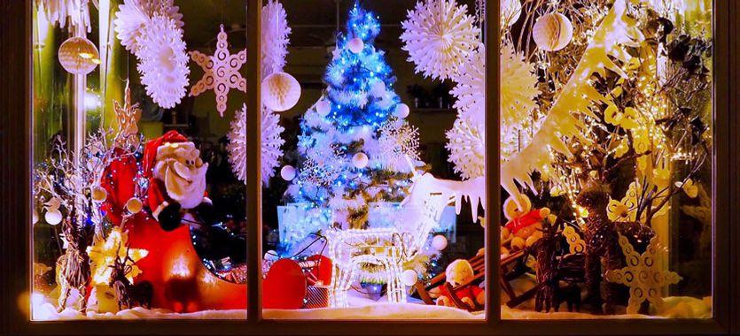 Cómo decorar un escaparate de Navidad