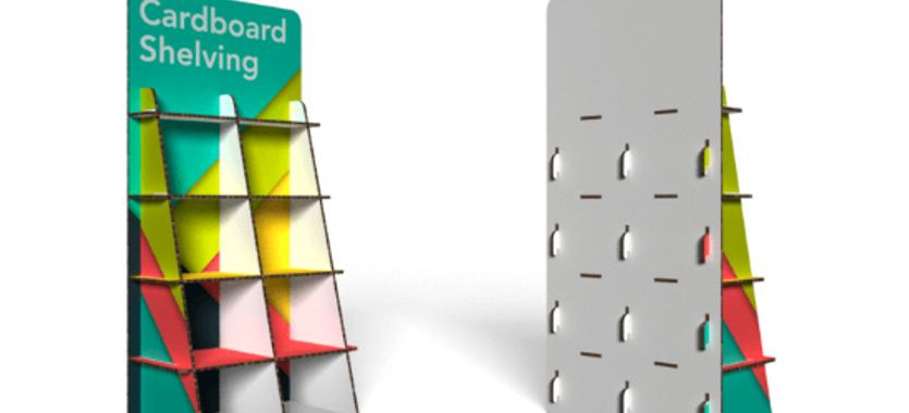 Nueva estantería de cartón alveolar personalizada en ClickPrinting