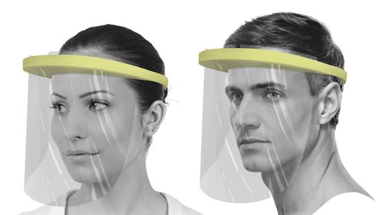 Pack de viseras tipo pantalla de protección facial contra el covid--19