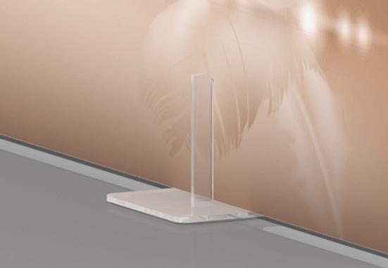 Clickprinting. Peana de metacrilato transparente para sujetar carteles y soportes rígidos, Pegasus, Foam, cartón pluma de 10 mm. Comprar a precios baratos online