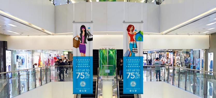 Las lonas publicitarias baratas para interior, otra solución personalizada