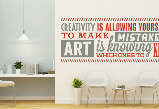 Clickprinting. Rotulación y decoración de paredes con vinilos adhesivos de corte en colores mate.  Comprar online precios baratos