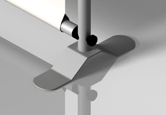 Clickprinting. Expositor photocall textil con estructura de aluminio con tubos adaptables a diferentes medidas. Comprar a precios baratos online
