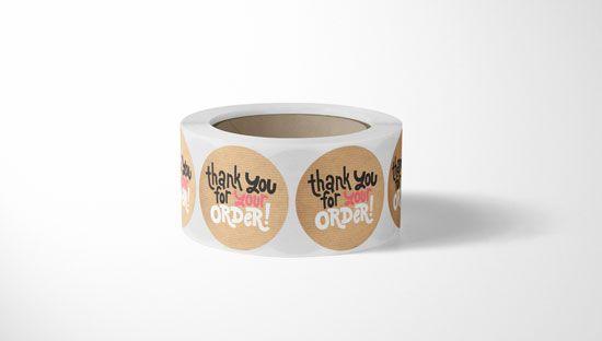 Clickprinting fábrica de etiquetas y pegatinas en bobina al mejor precio online. Papel verjurado marrón Kraft natural