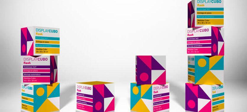 Display Cubo Flash, un nuevo soporte para publicidad en el punto de venta