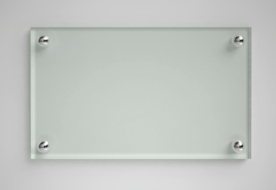 Clickprinting.  Embellecedores distanciados cromados para sujetar placas metacrilato, dibond. Comprar a precios baratos online