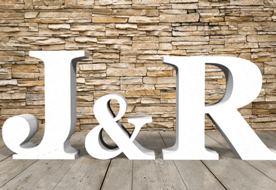 Clickprinting. Iniciales letras personalizadas fabricadas en corcho blanco Porexpan o poliespan de alta densidad. Comprar precios baratos online