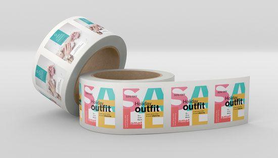 Imprimir pegatinas personalizadas en rollo