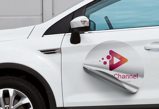 Clickprinting impresión digital film magnético para poner en coches y furgonetas. Rótulos imantados para pegar en puertas de autos, precios baratos online