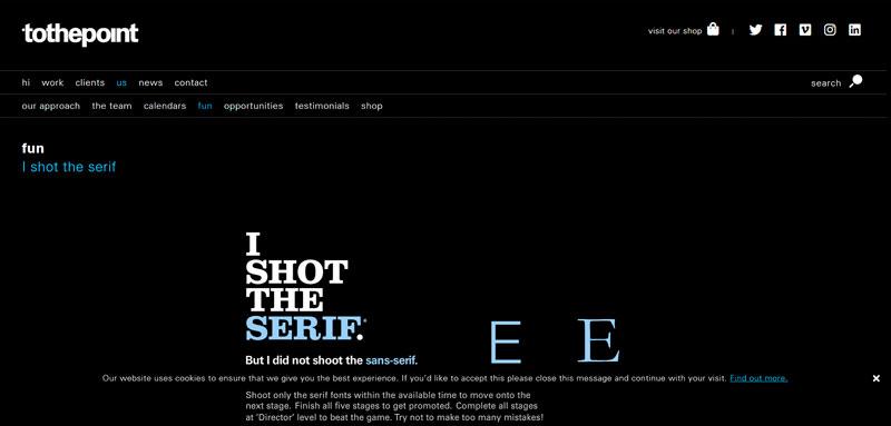 Disparé el serif