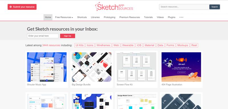Fuentes de la aplicación Sketch